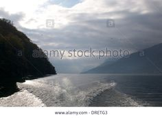 Wake Of The Boat,lake Como,lecco,italy Stock Photo, Picture And Royalty Free Image. Pic. 66094787