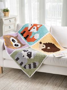I Wrote a Crochet Book! Corner-to-Corner Lap Throws for the Family - Repeat Crafter Me Crochet Owl Blanket, Crochet C2c Pattern, Crochet Fox, Crochet Books, Afghan Crochet Patterns, Crochet Phone Cases, Corner To Corner Crochet, Finger Knitting, Crochet For Kids