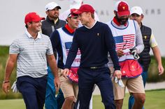 2017 Presidents Cup: Round 3 - Patrick Reed and Jordan Spieth on No. Jordan Spieth Golf, Presidents Cup, Sports Highlights, Wellness Fitness, Golf Tips, Boy Outfits, Coaching, Jordans, Husband