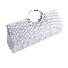 Jubileens Women's Shoulder Clutch Bag Rhinestone Evening Party Purse(Silver) $13.99