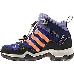 Adidas Outdoor Boys TERREX MID GTX Purple Boots 6 M *** Click on the image for additional details.