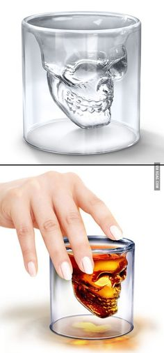 Coolest shot glass I have ever seen. I totally fucking want this