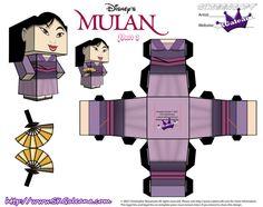 Disney Princess Mulan Cubeecraft Purple Dress pt2 by SKGaleana on DeviantArt