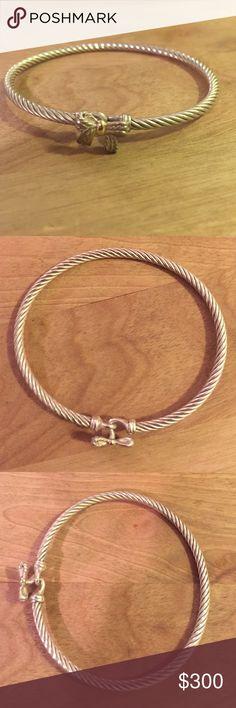 David Yurman Bow Bracelet Delicately worn David Yurman bow bracelet. Freshly polished and in great condition. Perfect for stacking or wearing alone. David Yurman Jewelry Bracelets