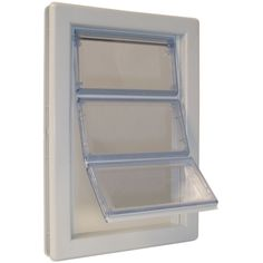 Ideal Pet Products AirSeal X-large White Plastic Pet Door (Actual: x at Lowe's. Simplify your life and save more energy with the Ideal Pet Extra Large AirSeal pet door. Give your pet access to shelter day and night and get them in out Dog Door Flaps, Draft Stopper, Pet Door, Pet Safe, Large Animals, Big Dogs, Large Dogs, Dog Supplies