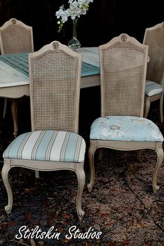 Shabby French Bistro Provincial Dining Table by StiltskinStudios, $875.00