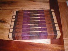 End Grain Cutting Board - (Walnut, Purple Heart, Ash, Cherry Woods) - by genaro @ LumberJocks.com ~ woodworking community