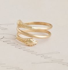 Two-Headed Snake Ring ///handmade in NYC /// Based on an English-made ring from 1860.