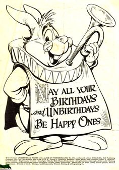 Walt Disney's Unbirthday Party with Alice in Wonderland. Dell Four Colors, no. 341, 1951.