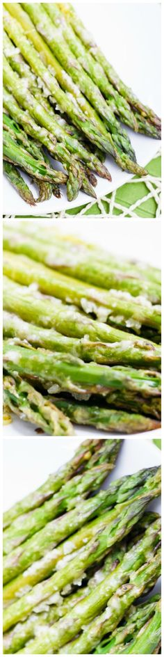 This quick and easy lemon and parmesan roasted asparagus is the perfect way to brighten up this tasty spring vegetable! And it only takes 15 minutes!
