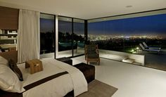 Modern and Sophisticated Bedroom Interior Design of Cole House by Steve Hermann, Los Angeles