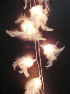 White Feather String Light,would be so beautiful on the mantel!