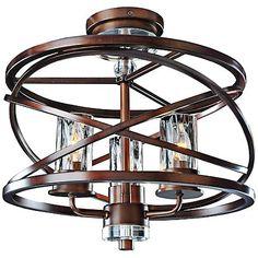 "Eternity 16 3/4"" Wide Bronze Water Glass Ceiling Light - #7C406   LampsPlus.com"