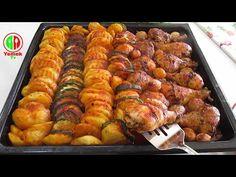 Cel mai ușor din lume! cea mai delicioasă mâncare. Rețetă de tobe de pui cu cartofi la cuptor. - YouTube Chicken Drumstick Recipes, Chicken Drumsticks, Ratatouille, Potato Recipes, Sausage, Potatoes, Yummy Food, Meat, Cooking