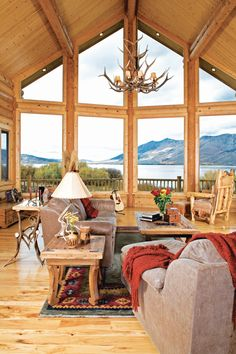 Rustic Log Home in the mountains