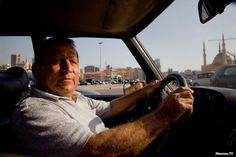 Lebanese Taxi driver In Down Town #Beirut.