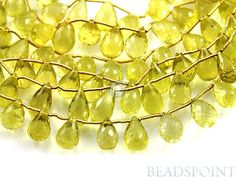 Natural '' NO TREATMENT'' Lemon Topaz Large Micro by Beadspoint, $32.95