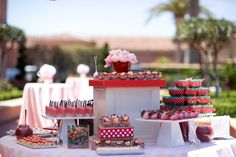 Strawberry dessert table