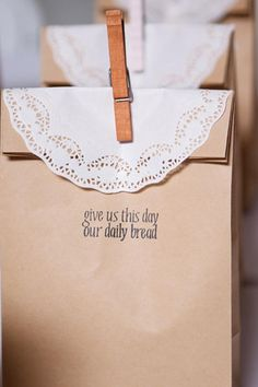 shabby chic favor bags - also cute idea to give little loaves of bread (but love the packaging for anything)