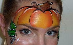 Pumpkin Mask Face Painting Tutorial