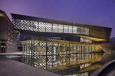 Kengo Kuma & Associates, Museum of Wisdom at the base of Laojunshan mountain in Xinjin, China.