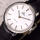 Authentic Omega DeVille White Dial Stainless Steel Manual Winding Mens Watch