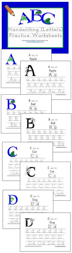 """ABC Handwriting Unit (w/ a Frog Theme!)  This 53 page download will give your little one plenty of 'hoppin' handwriting practice!  @ http://www.christianhomeschoolhub.spruz.com/preschool---kindergarten.htm (Under """"Letters of the Alphabet"""")"""