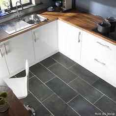 ivetta black slate porcelain tile from lowes | beautiful homes