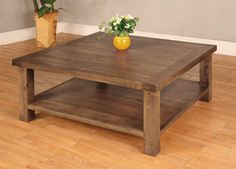 Large Wooden Square Coffee Tables