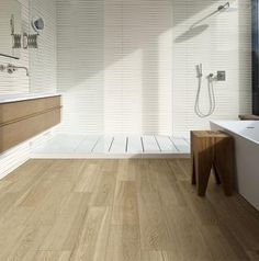 Are you looking for designer, modern or classic bathroom tiles? View the Marazzi collections: porcelain stoneware flooring and coverings for your home. Wood Effect Floor Tiles, Wood Tile Bathroom Floor, Wood Tile Floors, Wood Look Tile, Boho Bathroom, Rustic Bathrooms, Grey Bathrooms, Wall Tiles, Classic Bathroom
