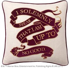 Pottery Barn Teen HARRY POTTER & Marauder's Map Pillow Cover, 18x18
