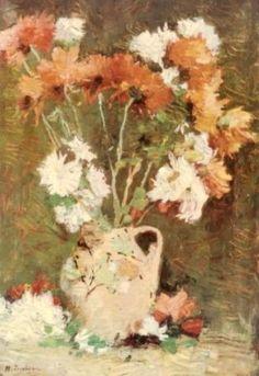 Dumitrite - Stefan Luchian Art Floral, Vintage Wall Art, Art Database, Art And Architecture, Art World, Impressionism, Flower Art, Art History, Art Nouveau
