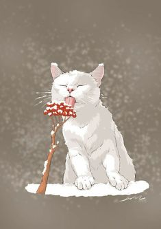 - Cats are Art - Cat Drawing Art Et Illustration, Illustrations, I Love Cats, Crazy Cats, Anime Animals, Cute Animals, Photo Chat, White Cats, Warrior Cats