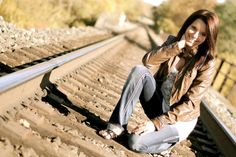 Senior Picture Poses, Senior Girl Pose, Portrait, Photography, Senior Photography, Railroad Tracks, Urban, Rustic
