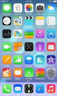 Nova imagem do iOS 8 retirada do suposto iPhone 6