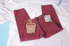 never worn wrangler jeans W33 L32 burgundy vintage high waist