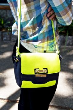 Neon bags are in, i have neon ballet flats but no bag. I'm on the hunt now!