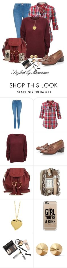 """Jeans Outfit"" by mozeemo ❤ liked on Polyvore featuring George, LE3NO, WearAll, See by Chloé, La Mer, West Coast Jewelry, Casetify, Borghese and Eddie Borgo"