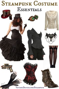 Steampunk Clothing, Costumes, and Fashion @VintageDancer.com