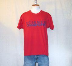 VINTAGE Champion Jersey Shirt Adult Large Navy Blue White 50//50 Blend Mens 80s