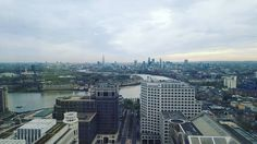 Looking out over London from Canary Wharf. by fielde491