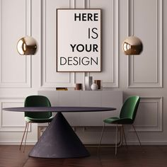 Mockup poster with a dining table