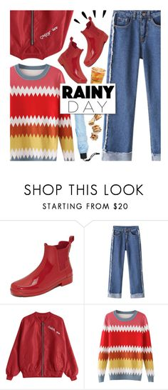 """""""Splish Splash: Rainy Day Style"""" by beebeely-look ❤ liked on Polyvore featuring Hunter, Forever 21, Old Navy, BackToSchool, casual, casualoutfit, rainyday and zaful"""