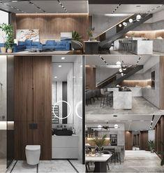 Highlights project e-house design interior on Behance Bedroom Furniture Design, Modern Bedroom Design, Home Decor Bedroom, Modern Interior Design, Room Decor, Modern Architecture House, Interior Architecture, Architecture Plan, Apartment Interior