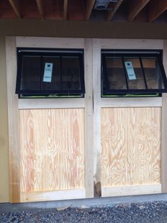 Outside Carriage Doors being built. Pre Opening, Carriage Doors, Windows, Building, Outdoor Decor, Home Decor, Decoration Home, Room Decor, Buildings