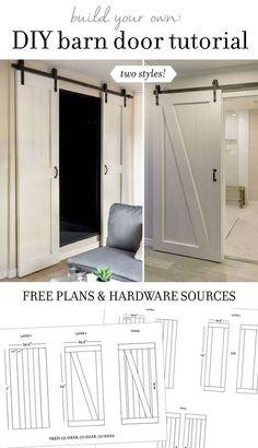 DIY : fabriquer des portes coulissantes en bois