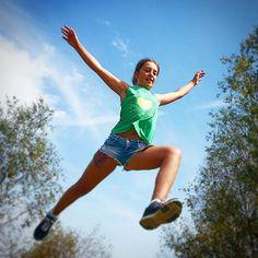 Salto de fe!! #salto #jumping #jump #cabarceno #cantabria #lavuelta2014 #family #familia #vueltaespaña #disfrutando #volando