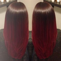 Red Ombre . Only color ombré I like. Would love more if it was violet fading into the red