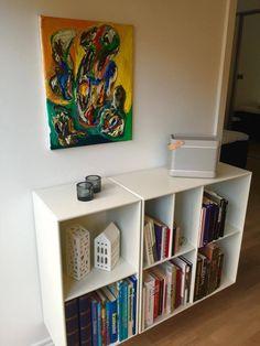 Bookcase, Interior Decorating, Shelves, Paintings, Home Decor, Shelving, Decoration Home, Paint, Room Decor