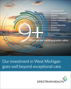 Join us as we celebrate our communities and the many programs we create, support and invest in to improve the health of the communities we serve. We invite you to read about our investment in West Michigan in this new Corporate Social Responsibility report. Corporate Social Responsibility, Info Graphics, Employee Engagement, Spectrum, Sustainability, Invite, No Response, Michigan, Layouts